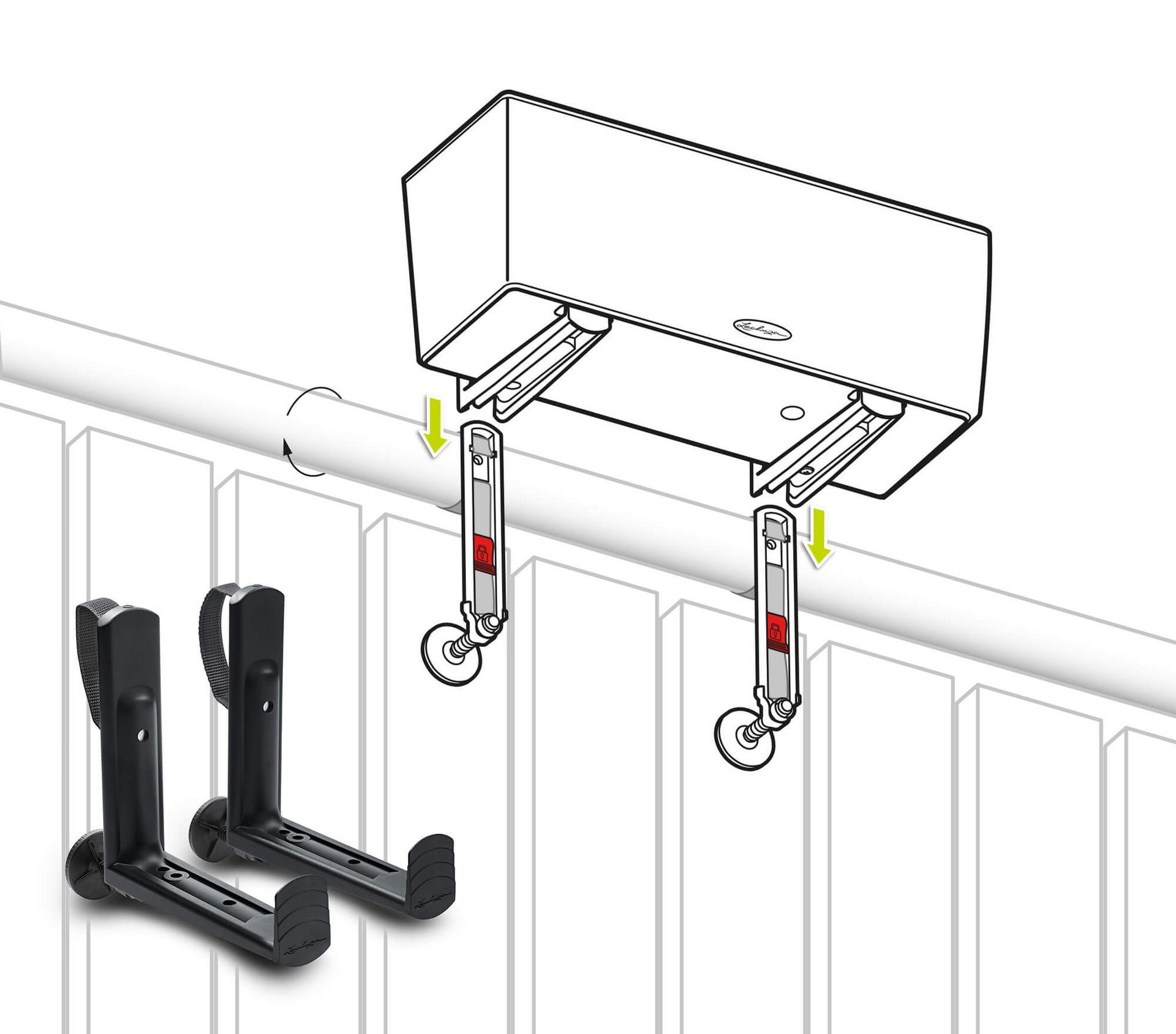 Balconera držáky na zábradlí